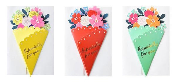 Especially For You Small Flower Bouquet Greeting Card - Q&T 3D Cards and Envelopes