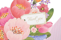 Flower Bouquet Thank You Greeting Card - Q&T 3D Cards and Envelopes