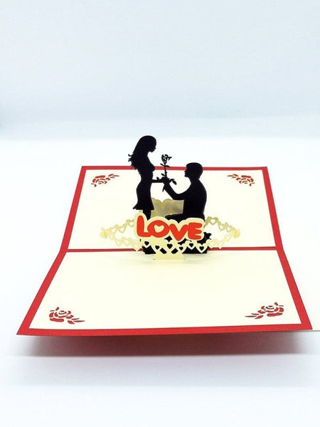 Love Pop Up Card - Engagement - Q&T 3D Cards and Envelopes