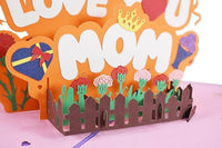Love You Mom Pop Up Card - Q&T 3D Cards and Envelopes