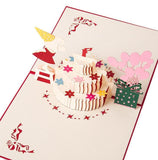 Pop Up Birthday Card - Cake, Balloons, Girl - Q&T 3D Cards and Envelopes