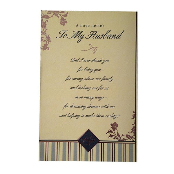 Thank You Card for Husband - Q&T 3D Cards and Envelopes