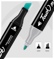 Touch Mark Professional Twin Tip Markers Set - 80 Colours - Q&T 3D Cards and Envelopes