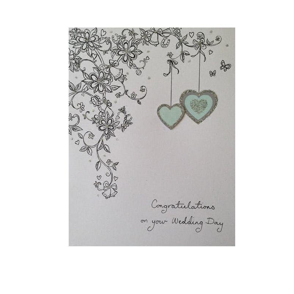Wedding Day Congratulations Card - Q&T 3D Cards and Envelopes