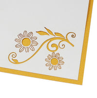 Yellow Sunflowers Pop Up Card - Q&T 3D Cards and Envelopes