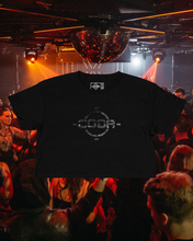 Load image into Gallery viewer, Black Classic Logo Cropped Tee
