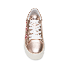CUTE Rose Gold Heart Flatform Sneaker - Heels Boutique
