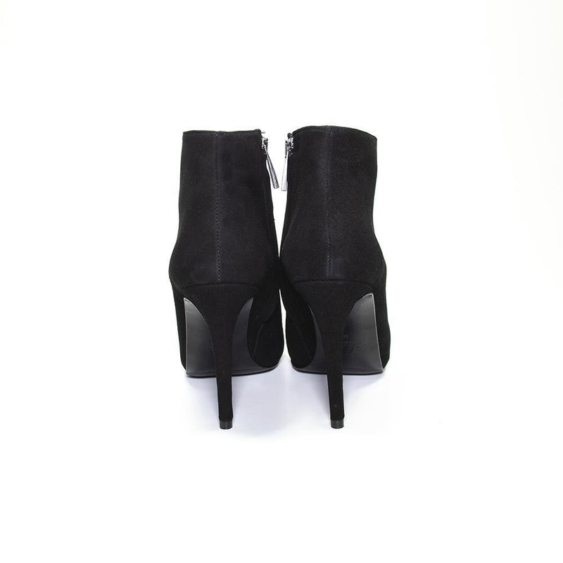 VANESSA LONDON | Black Suede Stiletto Ankle Boot