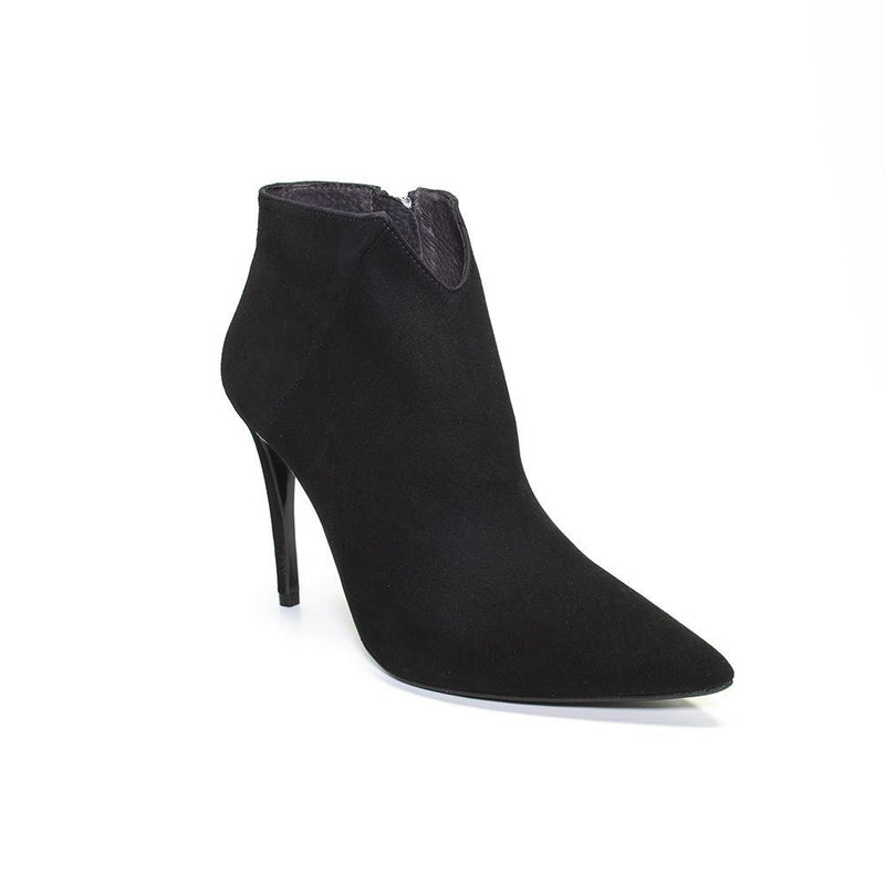 VANESSA LONDON |  Black Stiletto Pointed Toe Ankle Boot