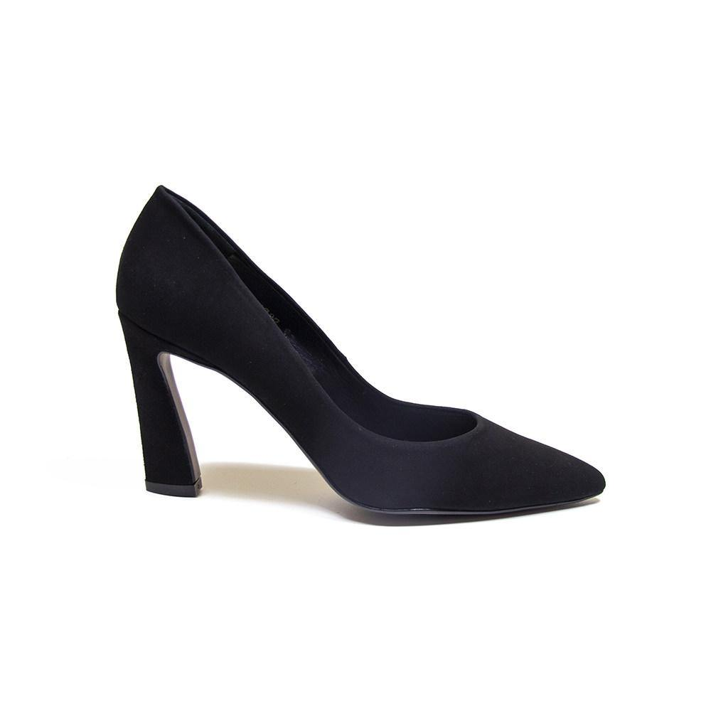 Kendall Black Suede Court Shoe - Vanessa London