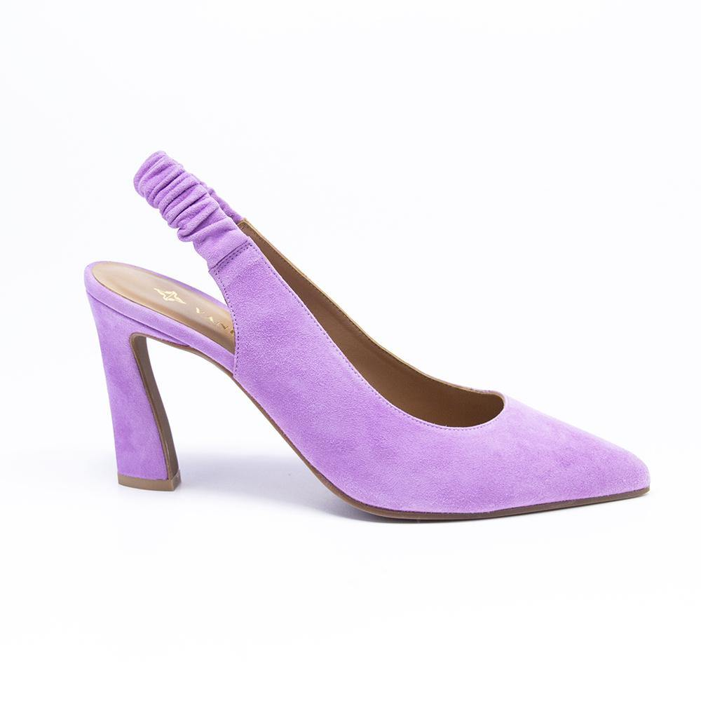 PEARL Lilac Suede Slingback Court Shoe - Vanessa London