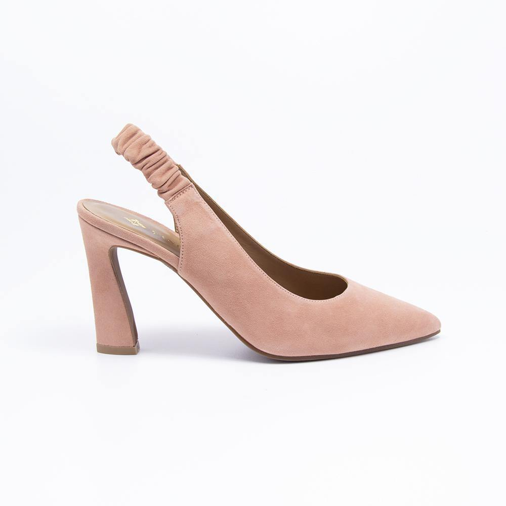PEARL Coral Suede Slingback Court Shoe - Vanessa London
