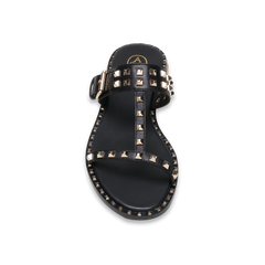 PRINCE Metal Black Stud Slide Sandal - Heels Boutique