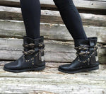 Stra2Django Black Leather Boots
