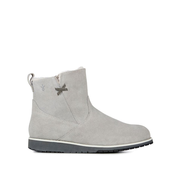 EMU Beach Mini Dove Grey Suede Merino Wool Lined Boot