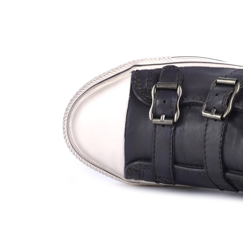 VIRGIN Graphite Hi-Top Buckle Sneaker - Heels Boutique