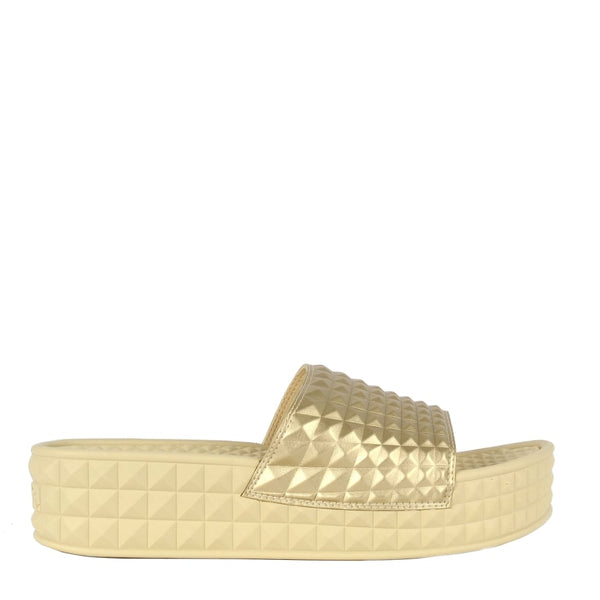 SCREAM Gold Studded Chunky Sole Slider