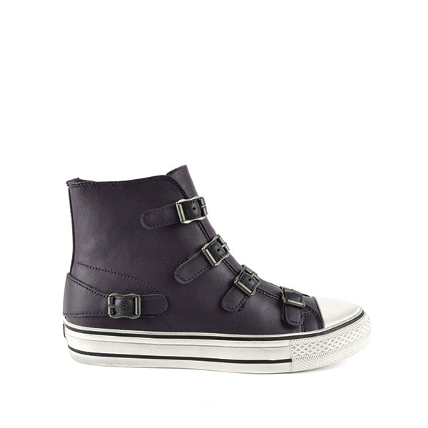 VIRGIN Graphite Hi-Top Buckle Sneaker