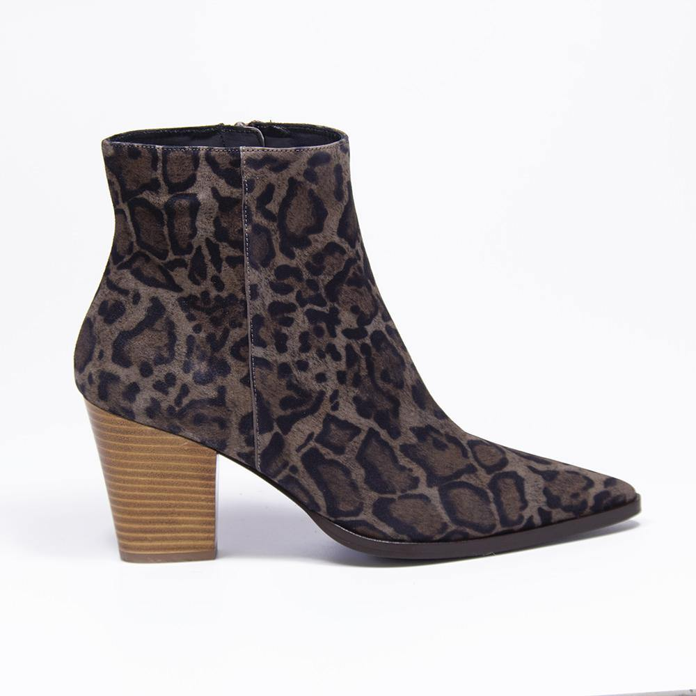 CAMERON leopard suede western boot | Vanessa London