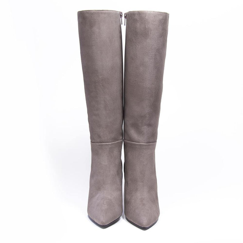 CHARLIZE Taupe Suede Knee High Boot