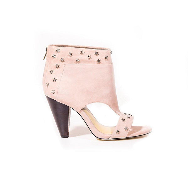 VANESSA Blush Kid Suede Star Stud Embellished Shoe Boot