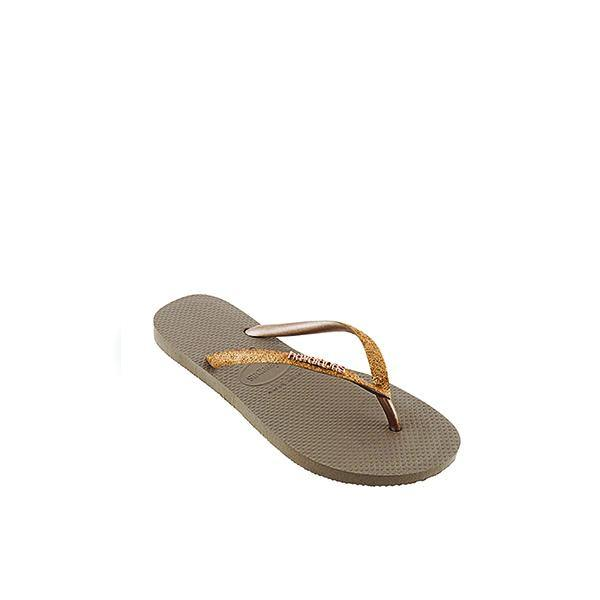 Slim Gold Shiny Girls Flip Flops