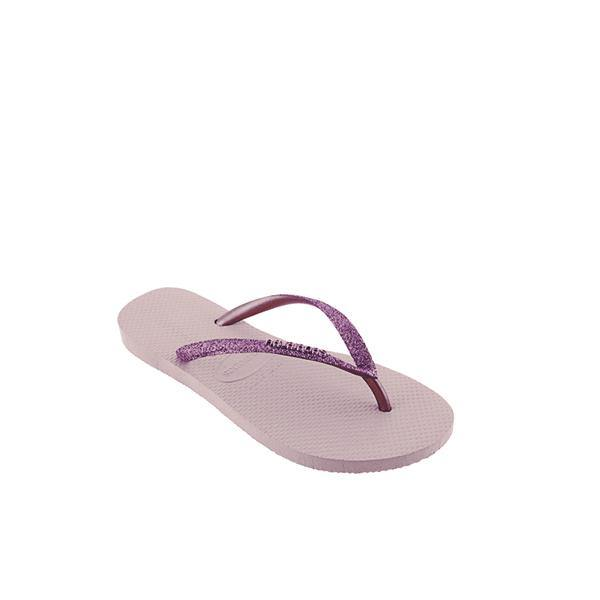 Slim Pink Shiny Girls Flip Flops