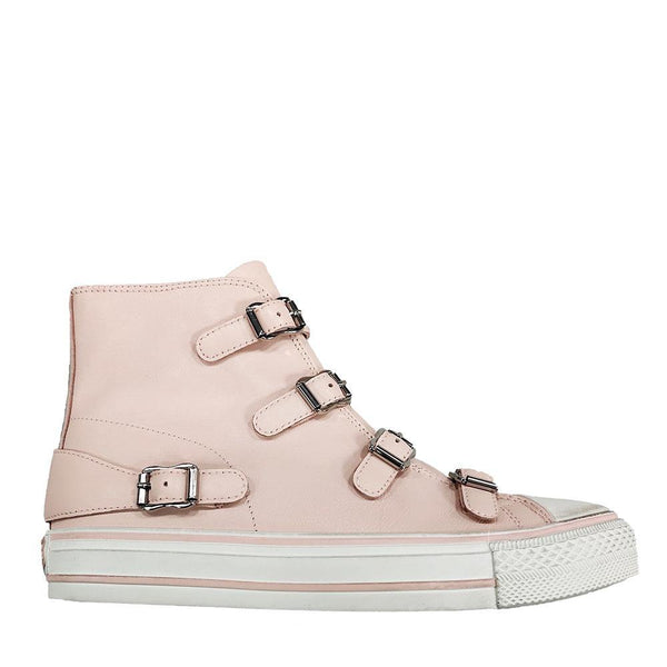 VIRGIN Powder Pink Hi-Top Buckle  Sneaker