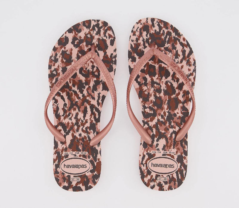 Slim Animal Rose Gold Flip Flop - Vanessa London