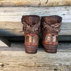 Stra2Django Wood Leather Boots