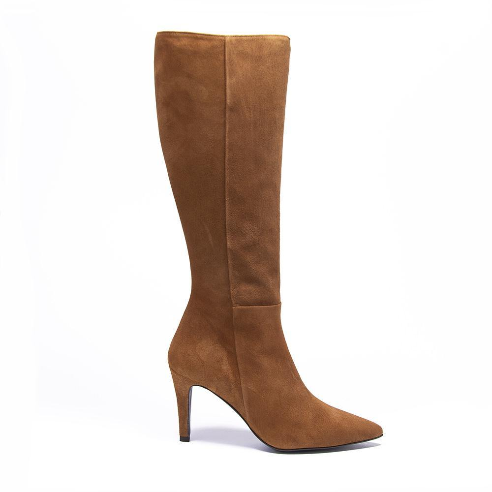 UMA Tan Suede Knee High Boot - Vanessa London