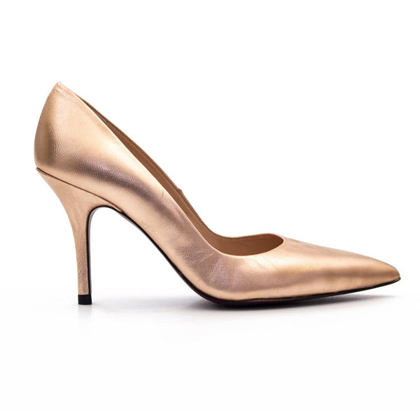 KITTY Rose Gold Leather Stiletto