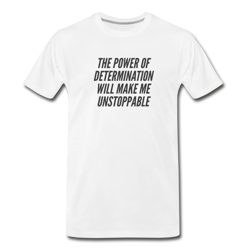 Power Men's Premium Organic T-Shirt - White - white
