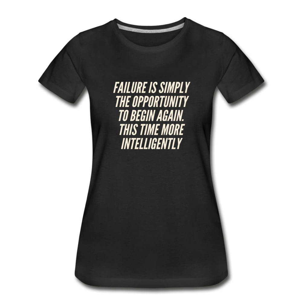 Failure 2 Women's Premium Organic T-Shirt - Black - black