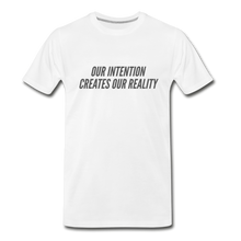 Load image into Gallery viewer, Intention Men's Premium Organic T-Shirt - White - white