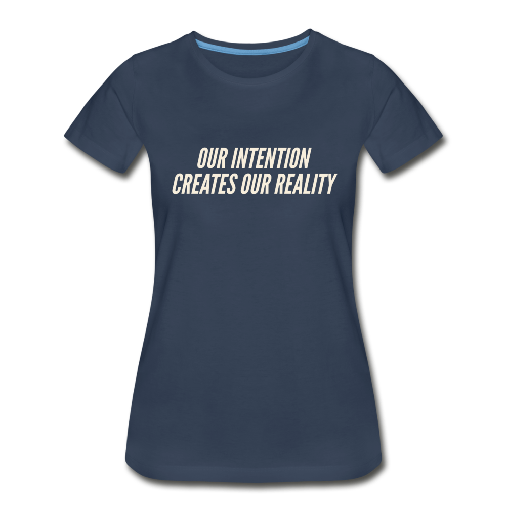 Intention Women's Premium Organic T-Shirt - Navy - navy