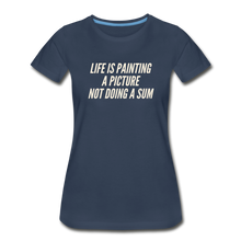 Load image into Gallery viewer, Painting Women's Premium Organic T-Shirt - Navy - navy