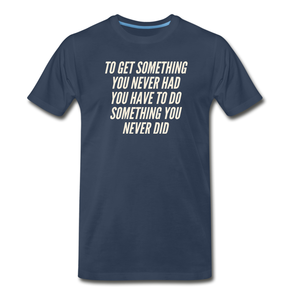 Something Men's Premium Organic T-Shirt - Navy - navy
