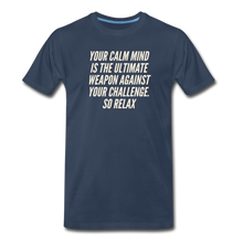 Load image into Gallery viewer, Relax Men's Premium Organic T-Shirt - Navy - navy