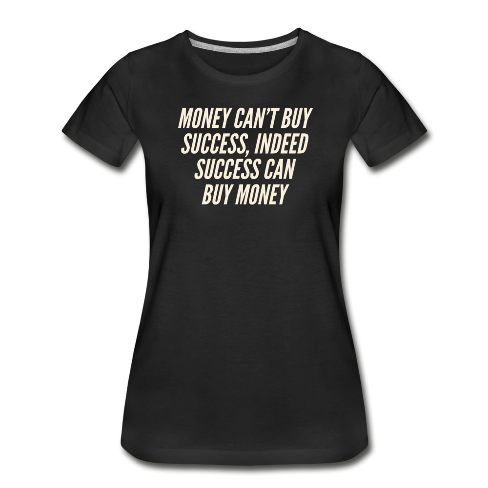 Money Women's Premium Organic T-Shirt - Black - black