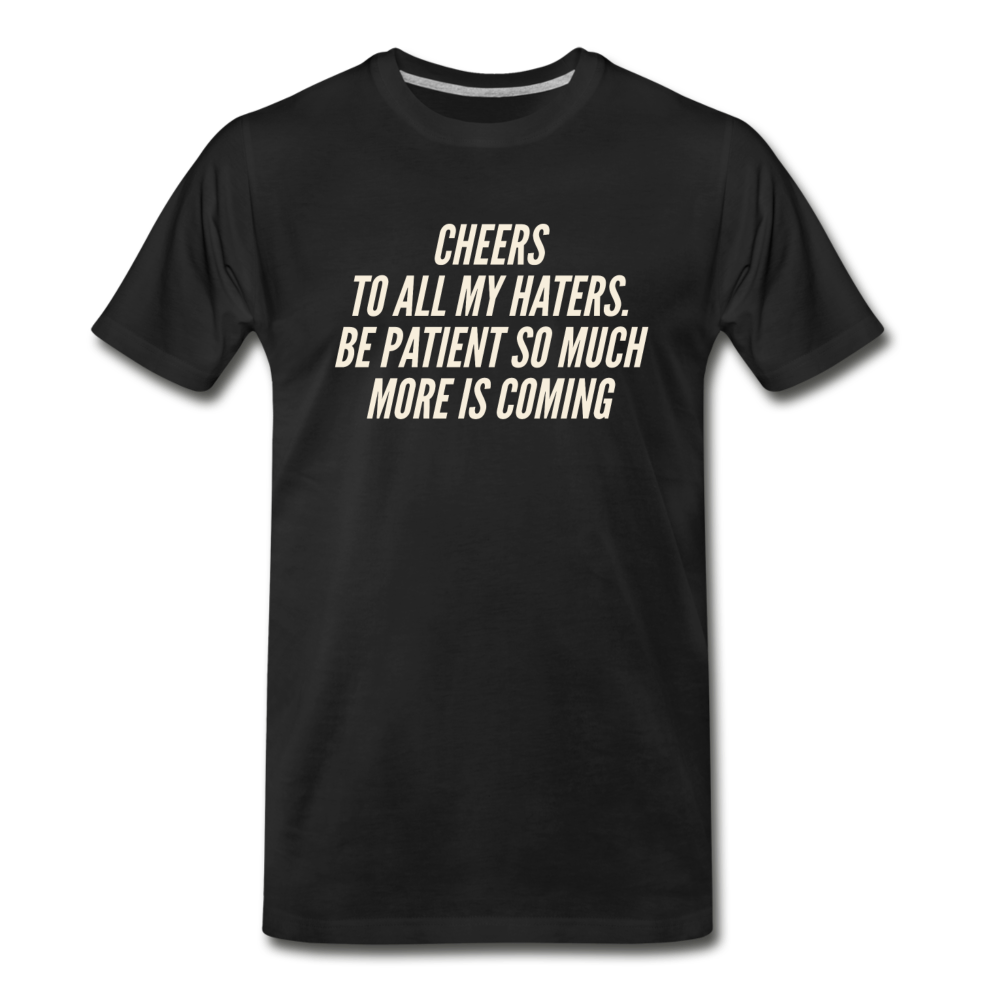 Cheers Men's Premium Organic T-Shirt - Black - black