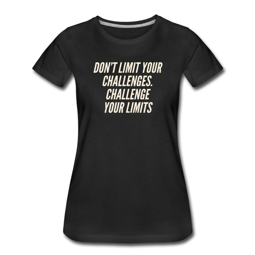 Limits Women's Premium Organic T-Shirt - Black - black