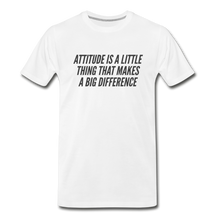 Load image into Gallery viewer, Attitude Men's Premium Organic T-Shirt - White - white