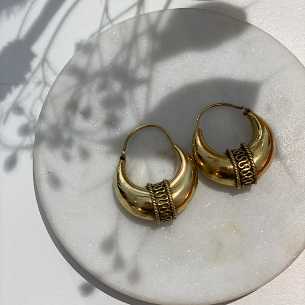 Creole Snake Hoop Earrings