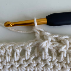 how to back post double crochet