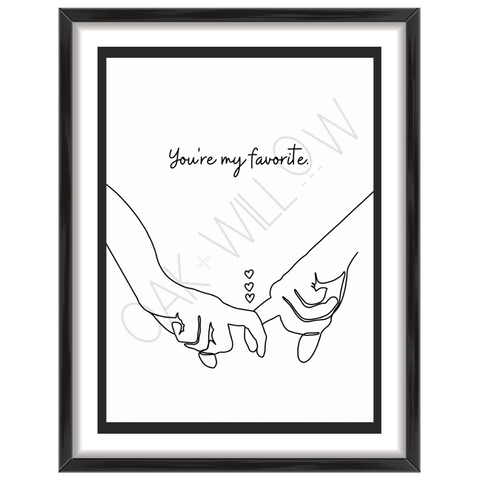 Couple's Hands Art Print (Digital Download)
