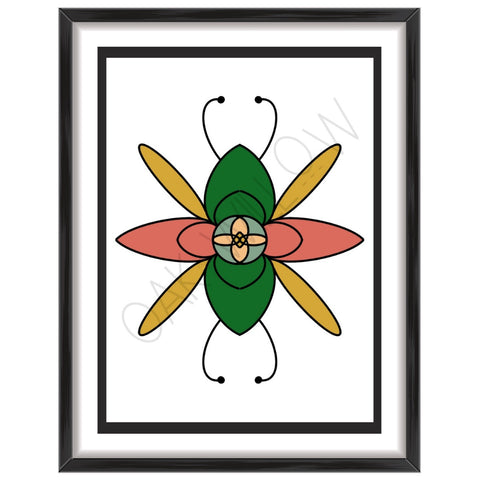Bug Mandala Art Print (Digital Download)