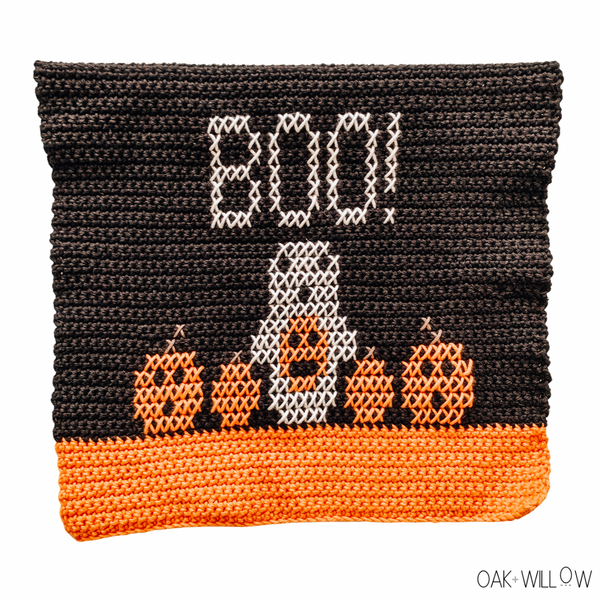 October Dish Towel Crochet Pattern