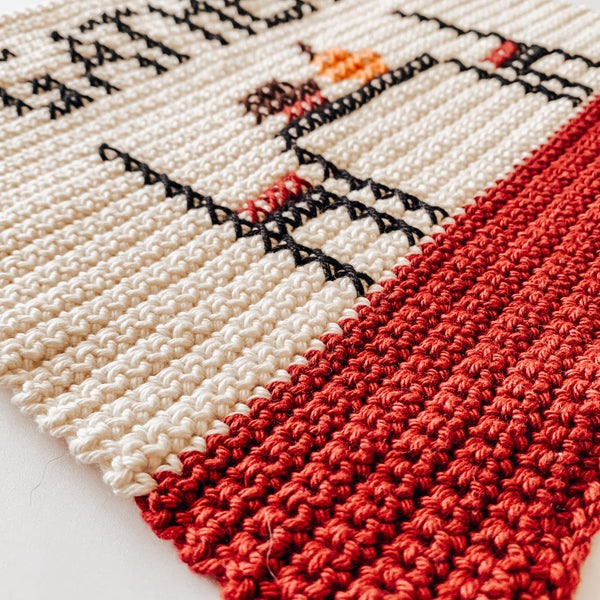 November Dish Towel Crochet Pattern
