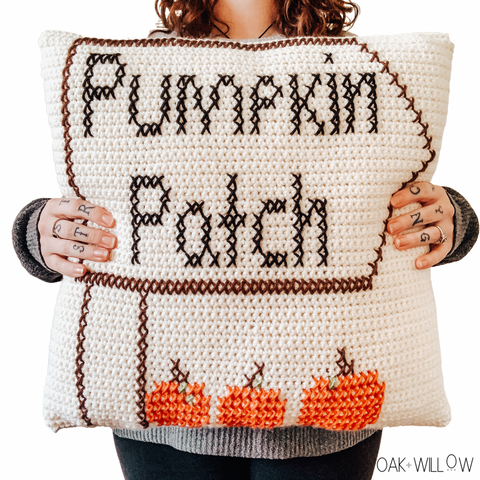 Pumpkin Patch Pillow Crochet Pattern